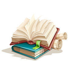 Magic books spreadsheet vector