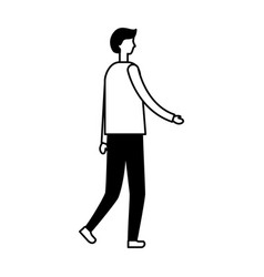 man character on white background vector image