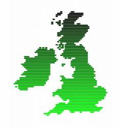 map of the british isles vector image