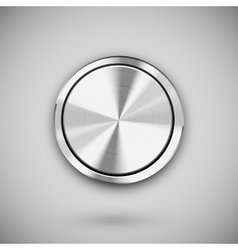Metal circle button vector