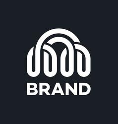 modern bridge and communication logo vector image