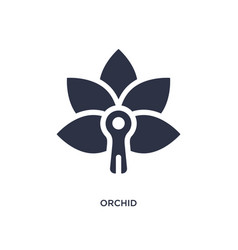 Orchid icon on white background simple element vector