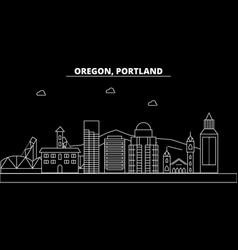 portland city silhouette skyline usa - portland vector image