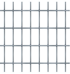 Prison bar realistic pattern criminal iron jail vector