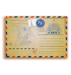 Retro Postcard vector image