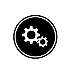 round gear flat icon the mechanism vector image