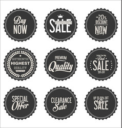 sale gray modern stickers collection vector image