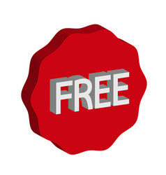 sign button free icon vector image