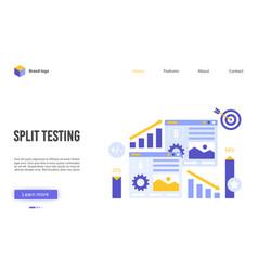 Split testing cartoon flat vector