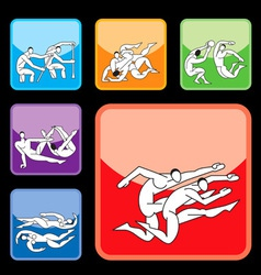 Sport buttons set03 vector