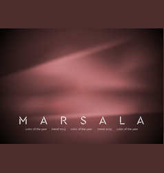 Trendy color marsala 2015 Smooth silk abstract vector image