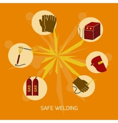 Welder icons flat vector image
