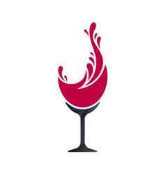 Wine splash concept vector