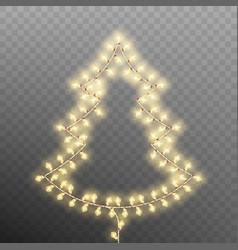 christmas tree trom vintage garlands eps 10 vector image vector image