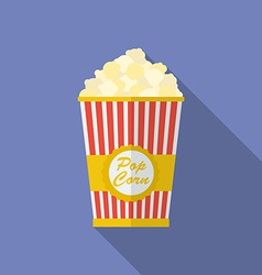 Icon of popcorn flat style vector