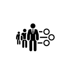management icon flat design vector image vector image