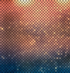 Metallic mosaic background vector image vector image