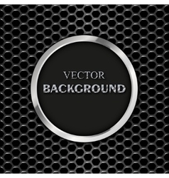 round metal frame vector image