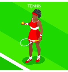 Tennis 2016 Summer Games 3D Isometric vector image vector image