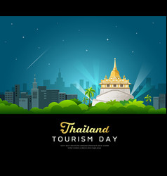 thailand tourist landmarks worshipers on important vector image vector image