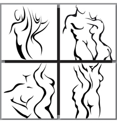 Abstract sketch of couple vector image vector image