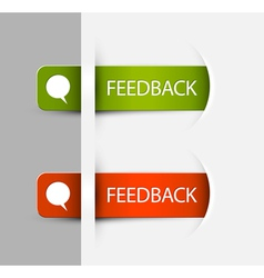 Feedback Labels Stickers vector image