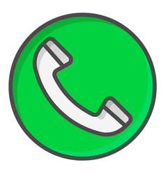 green call button symbol vector image