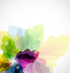 Modern transparent floral background vector image
