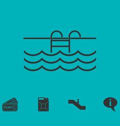 Pool icon flat vector