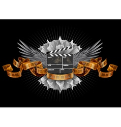 Coat of arms film clapper vector image