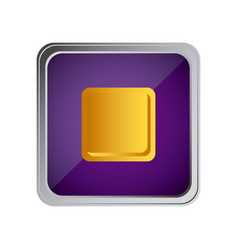 stop button icon with background purple vector image