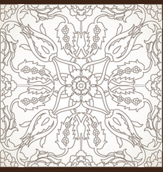 arabesque vintage element outline for design vector image