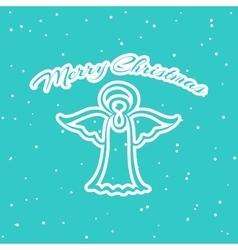 Christmas Pattern Angel vector image