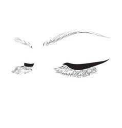 closed eyes drawing vector image vector image