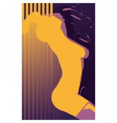 erotic girl abstract vector image