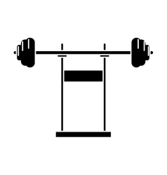 pictogram weight barbell equipment fitness gym vector image vector image