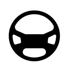 Steering wheel the black color icon vector