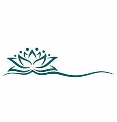 A lotus symbol vector
