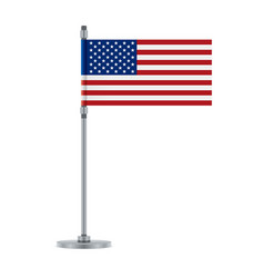 american flag on the metallic pole vector image
