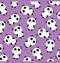 Bears panda pattern background vector