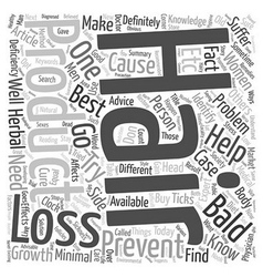 Best Hair Loss Products text background wordcloud vector image