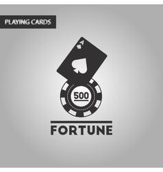 Black and white style Fortune chip card vector