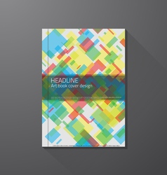 Book cover colorful squares vector image
