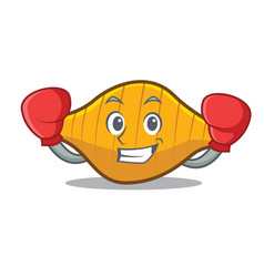 Boxing conchiglie pasta character cartoon vector