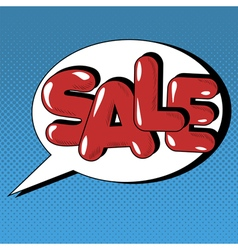 Bubble with Expression Sale in Vintage Style vector image