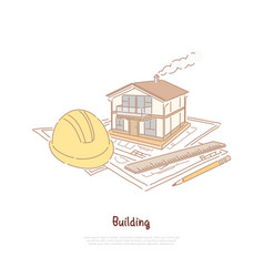building construction industry real estate agency vector image