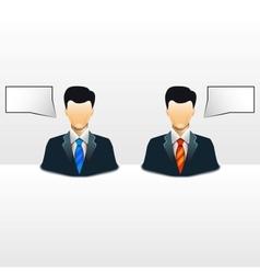 business man conceptual vector image
