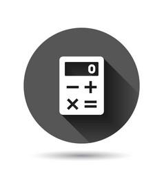 Calculator icon in flat style calculate on black vector