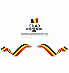 Chad independence day celebration template design vector