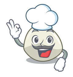Chef character cartoon fresh mozzarella cheese vector